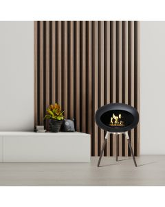 Ground Wood 45cm Black - Smoked Oak